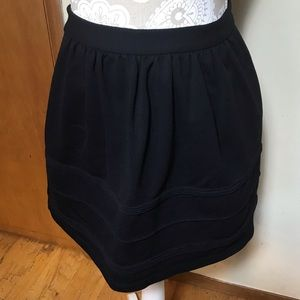 J. Crew black ribbed skirt, EUC, size 4